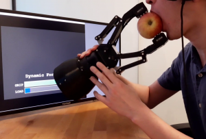 Can A Robotic Gripper Hold An Apple While You Take A Bite?